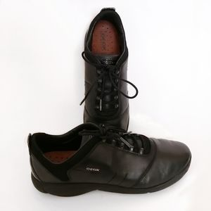 Geox Respira Net Breathing System Black Shoes